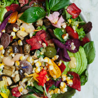 Vegan Cobb Salad with Watermelon Bacon | Golubka Kitchen