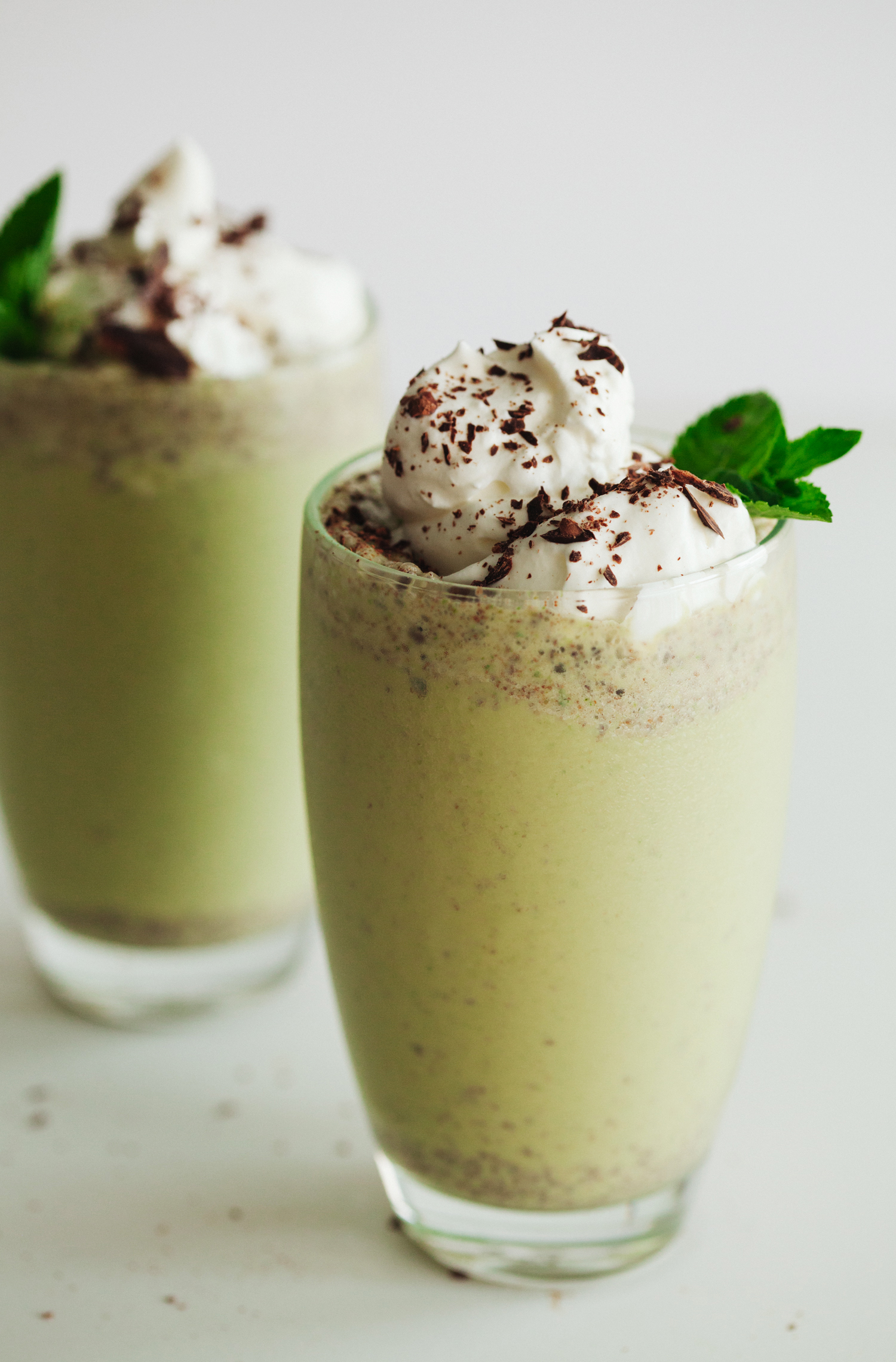 Mint and Chocolate Milkshake with Aquafaba Whipped Cream | Golubka Kitchen