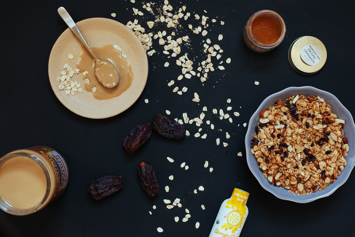 Tahini-Ginger Dessert Smoothie Bowl with a Ginger Oat Granola Sprinkle | Golubka Kitchen