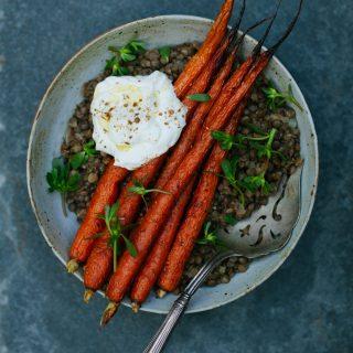 Spice Roasted Carrots with Lentils | Golubka Kitchen