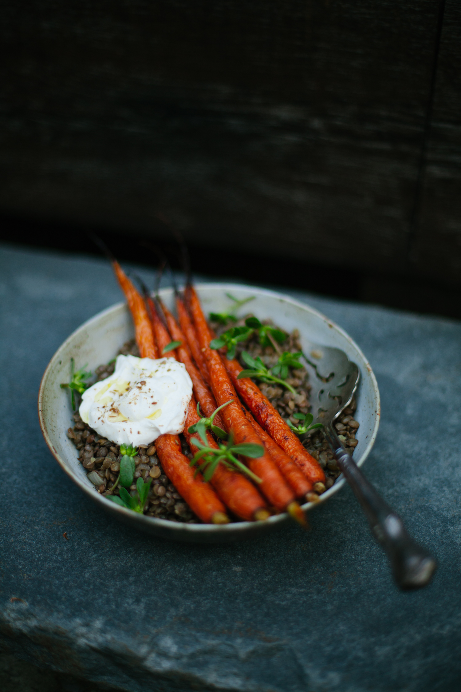 Spice Roasted Carrots with Lentils | Golubka Kitchen