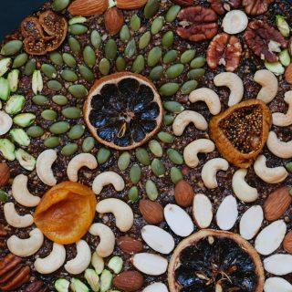 Concord Grape Fruit and Nut Cake | Golubka Kitchen