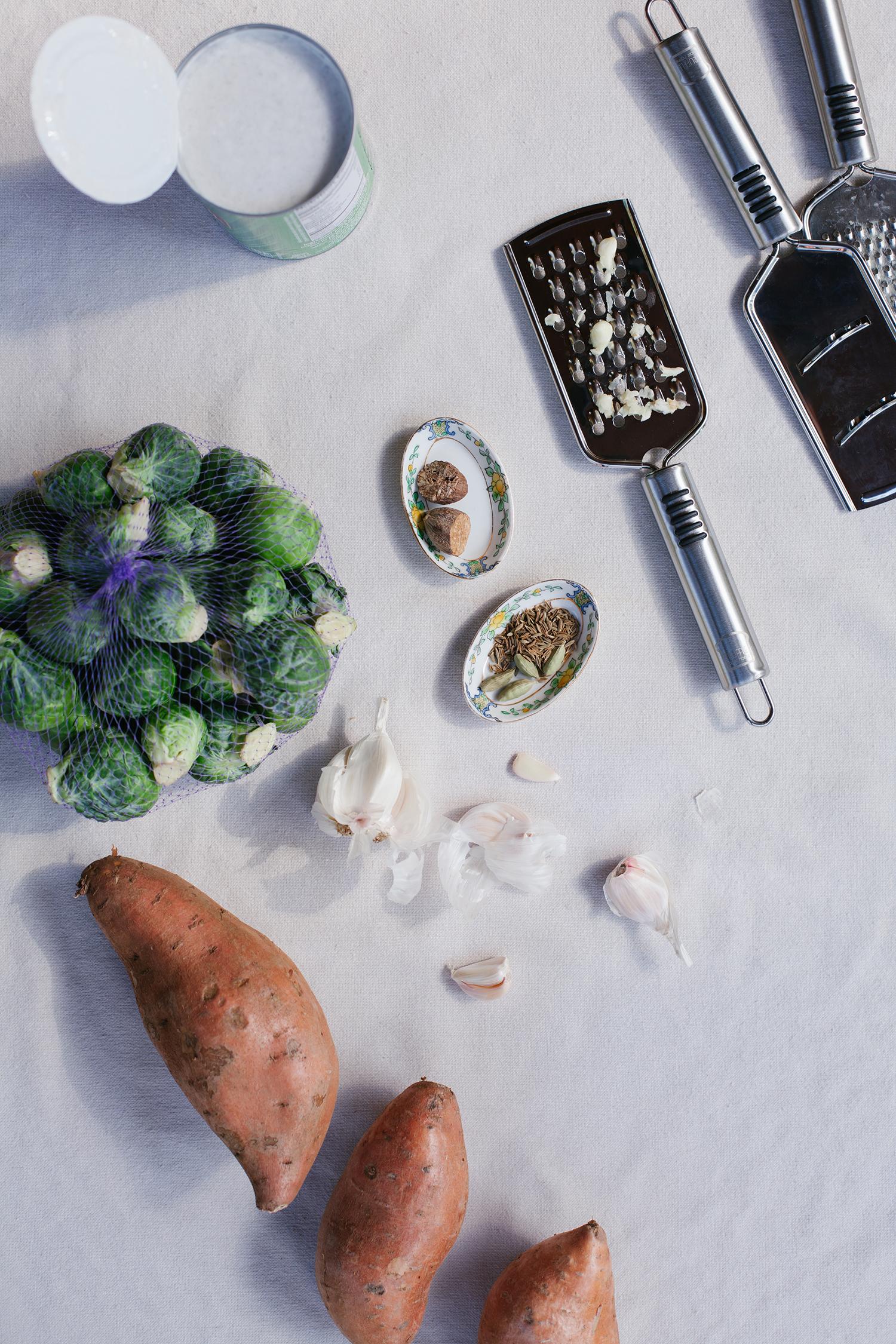 Sweet Potato Brussels Sprout Gratin   Golubka Kitchen