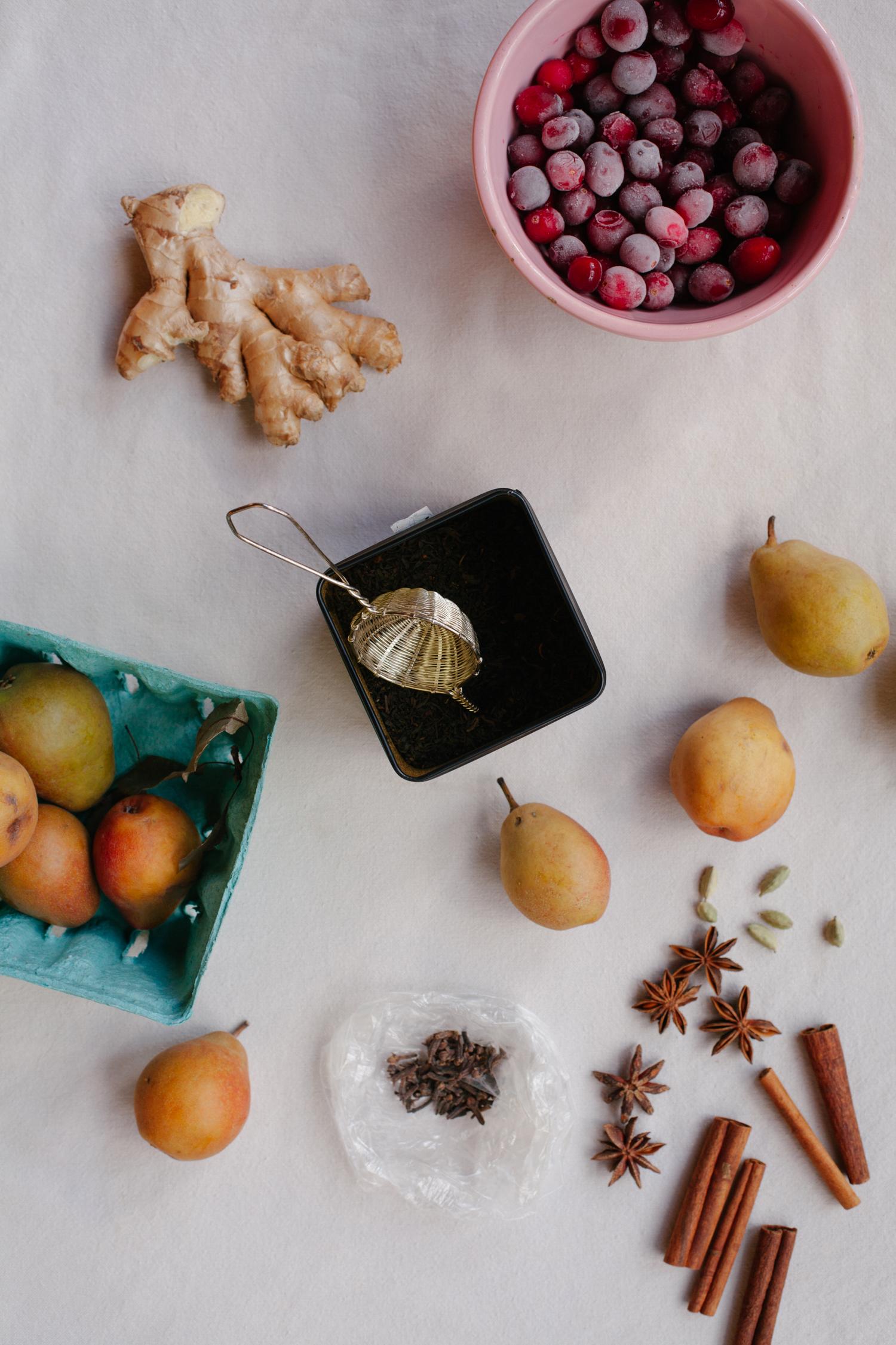 Pear Cranberry Chai   Golubka Kitchen