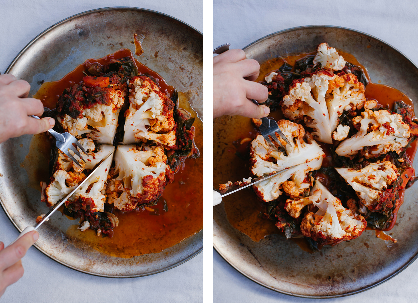 Whole Braised Holiday Cauliflower | Golubka Kitchen