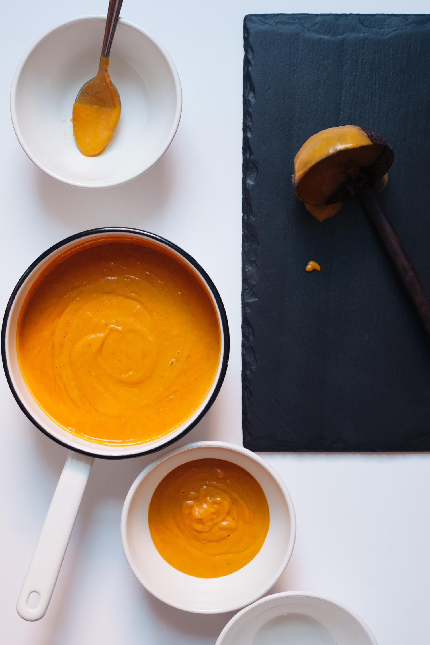 Creamy Butternut Squash, Pear and Cranberry Soup | Golubka Kitchen