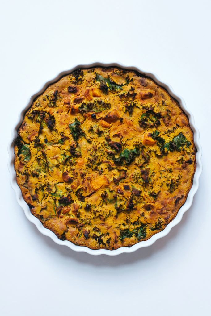Root Vegetabe Chickpea Flour Quiche