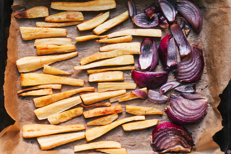 Roasted Garlic and Parsnip Hummus - Golubka Kitchen