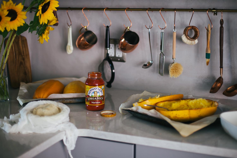 Spaghetti Squash Mung Bean Lasagna - Golubka Kitchen