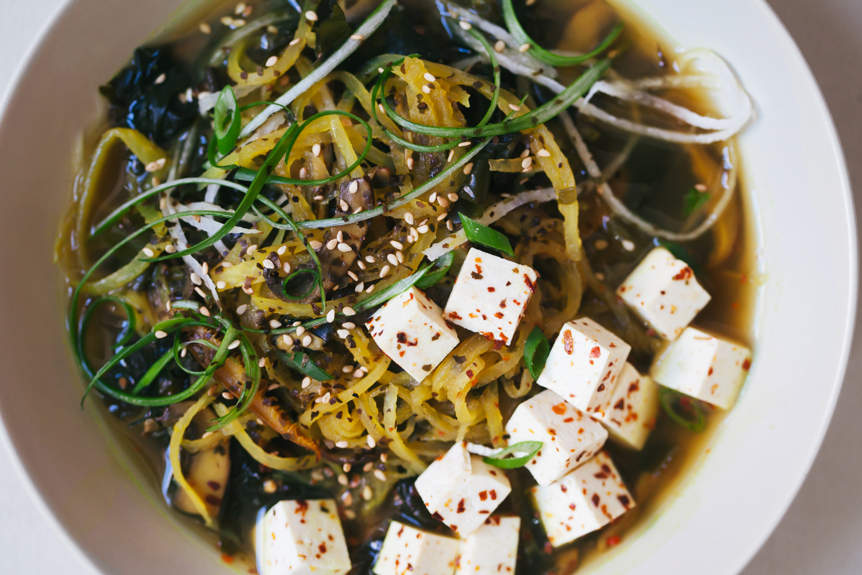 Vegan Daikon Noodle Ramen - Golubka Kitchen