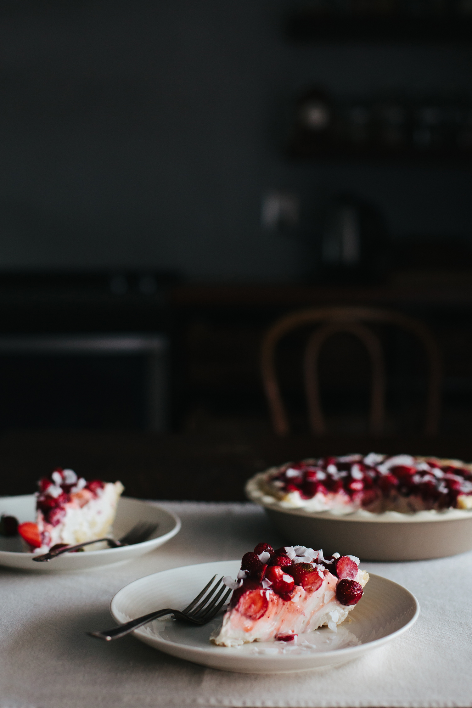Strawberry Coconut Cream Pie - Golubka Kitchen
