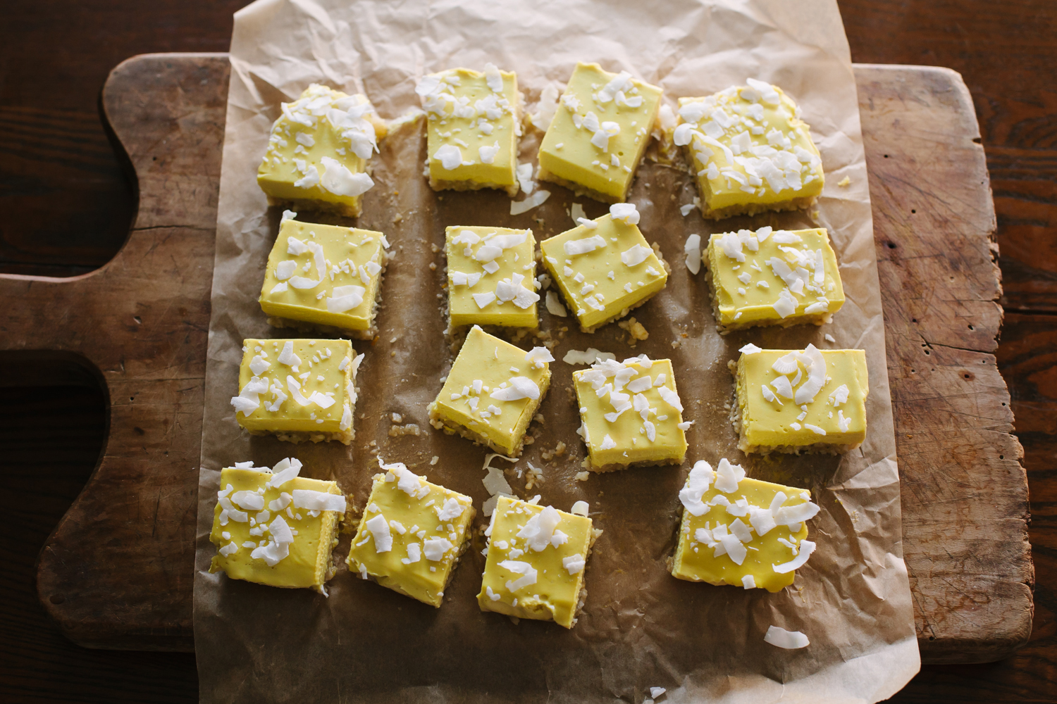 No Bake Coconut Lemon Bars - Golubka Kitchen