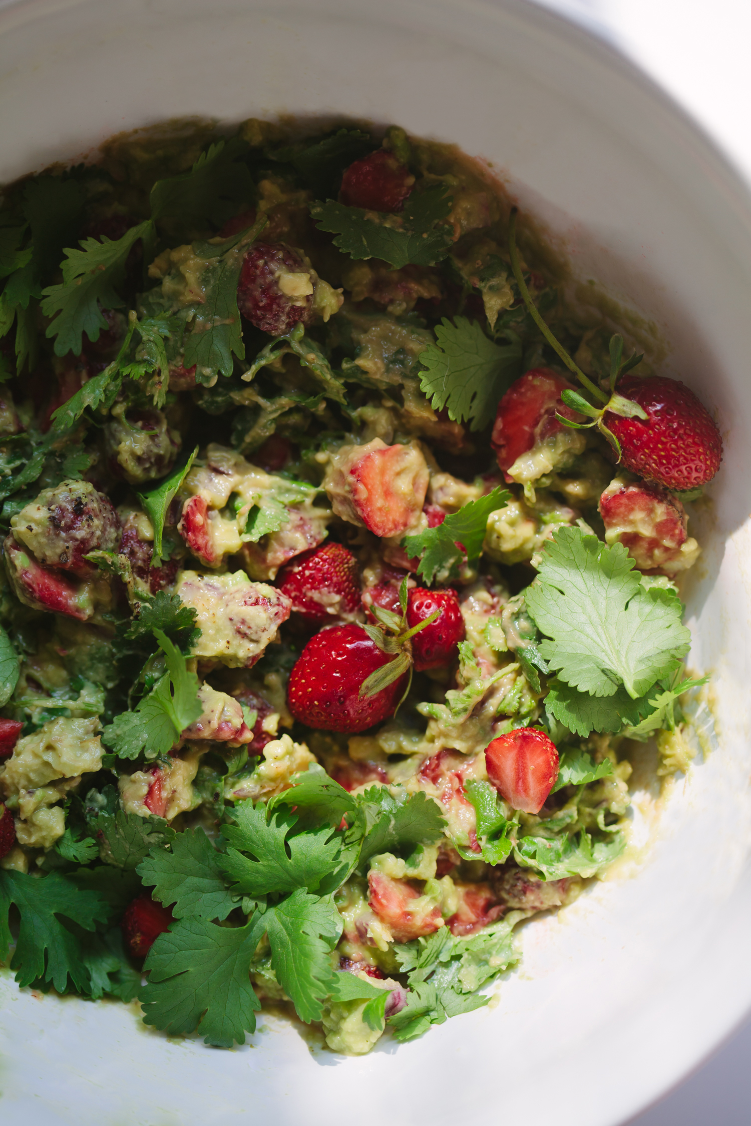Strawberry Guacamole - Golubka Kitchen