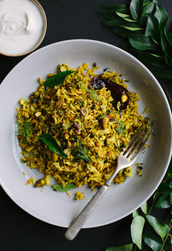 Lime and Dill Rice with Pistachios from Vibrant India + Giveaway