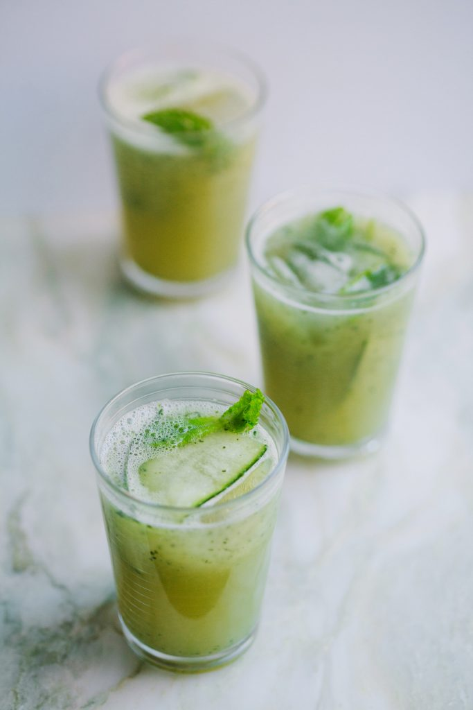 Minty Aloe and Cucumber Lemonade