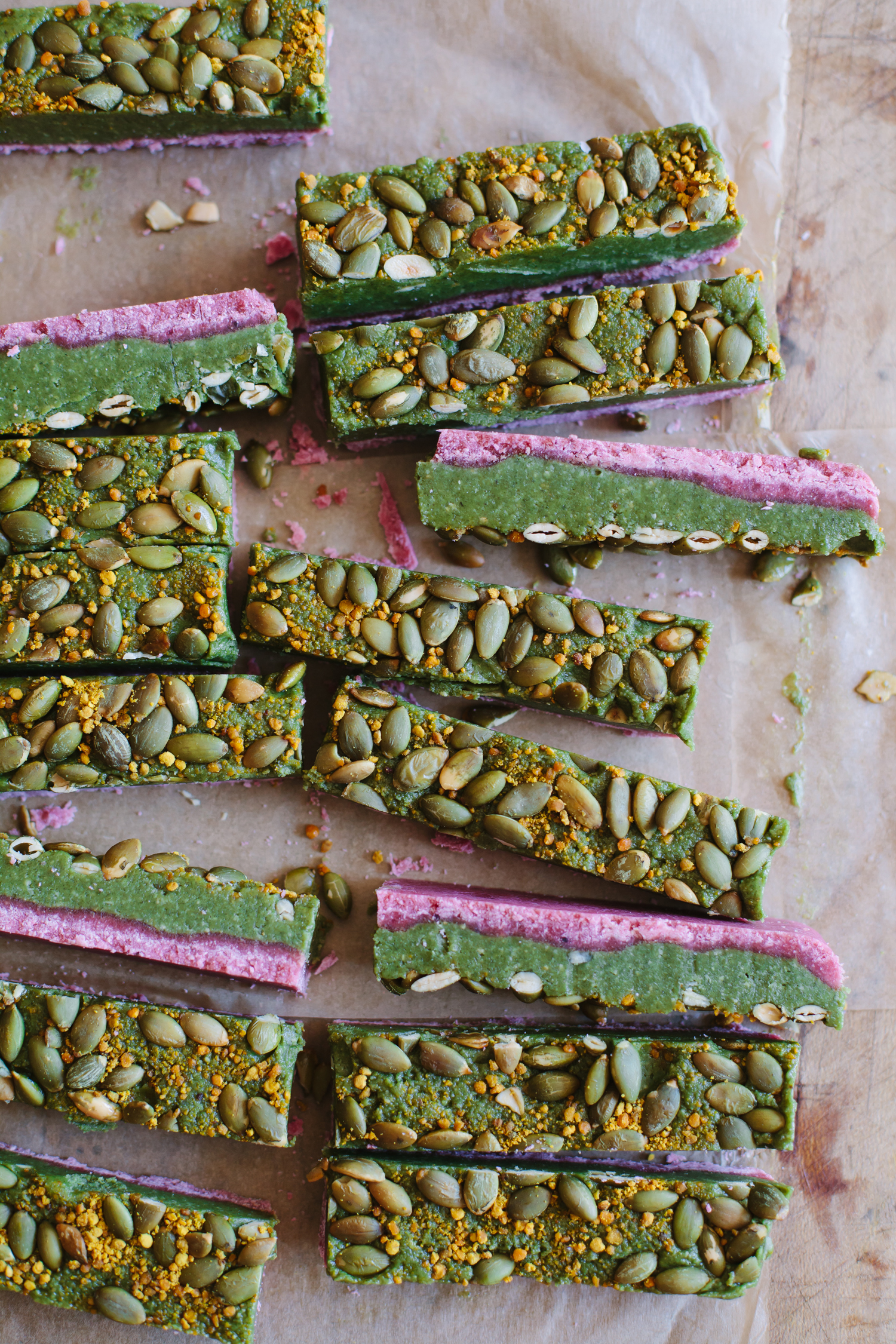 Pumpkinseed Caramel 'Twix' Bars - Golubka Kitchen