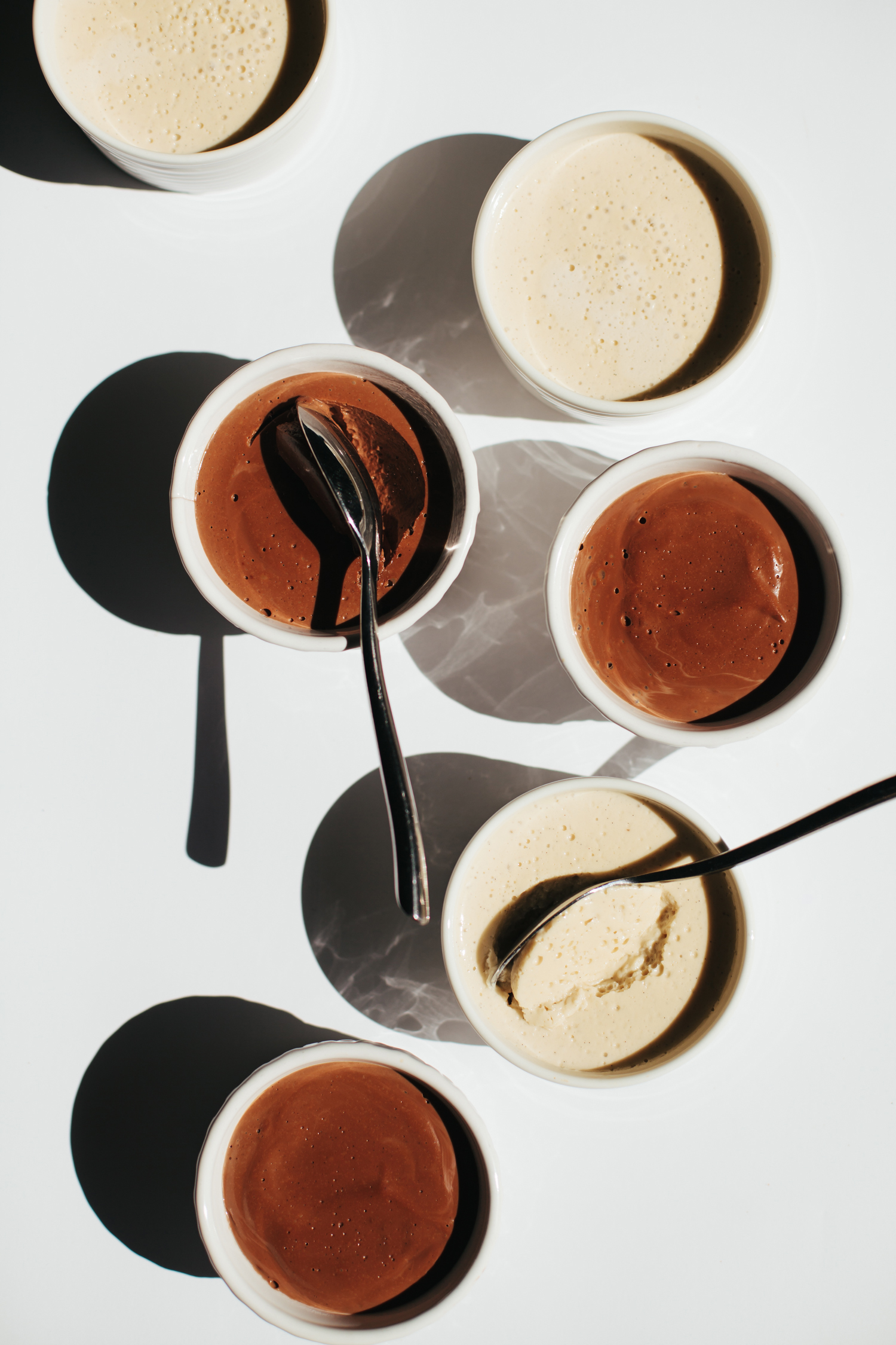 Black and White Chocolate Pudding - Golubka Kitchen