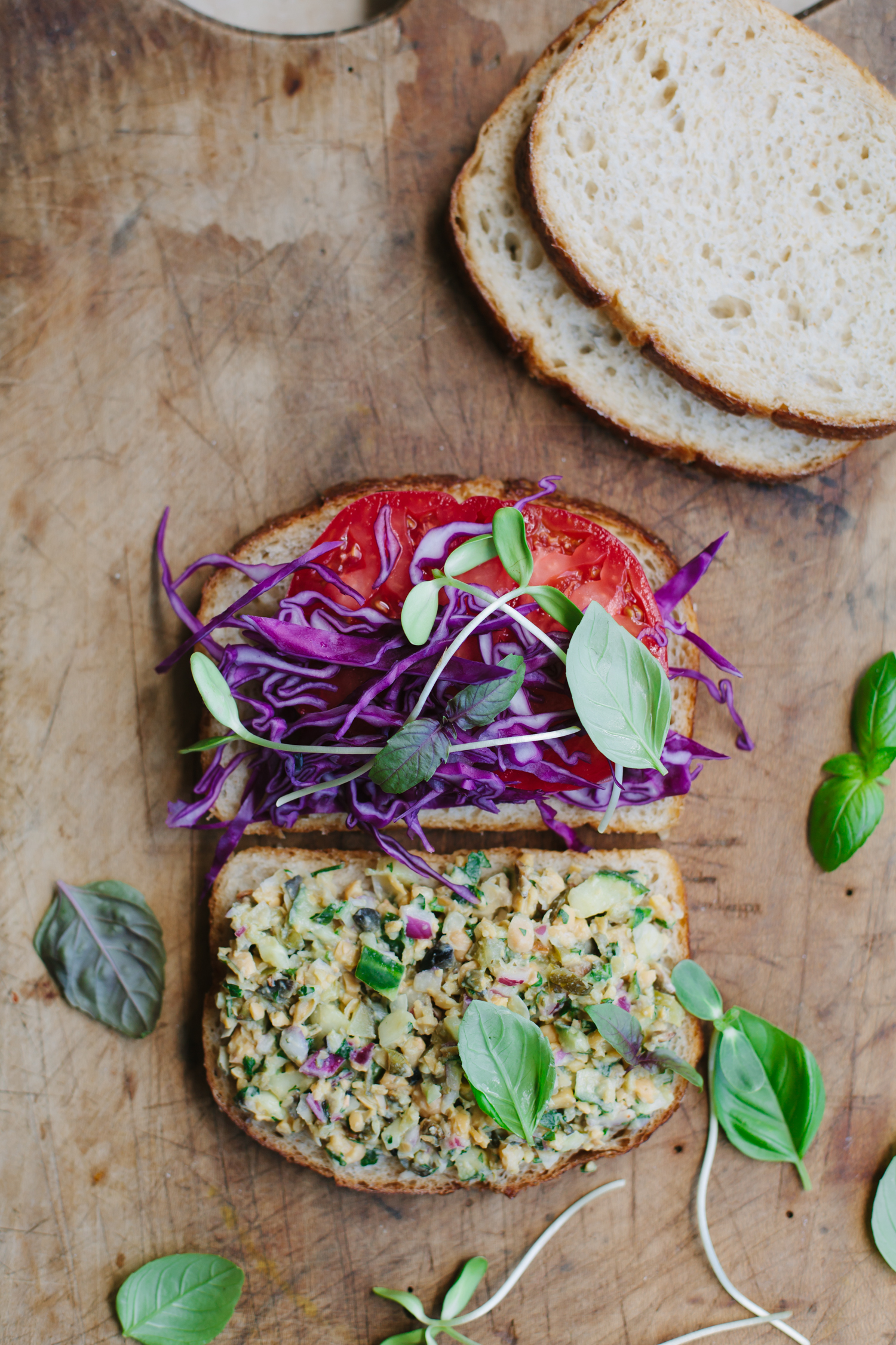 Summery White Bean 'Tuna' Sandwich - Golubka Kitchen