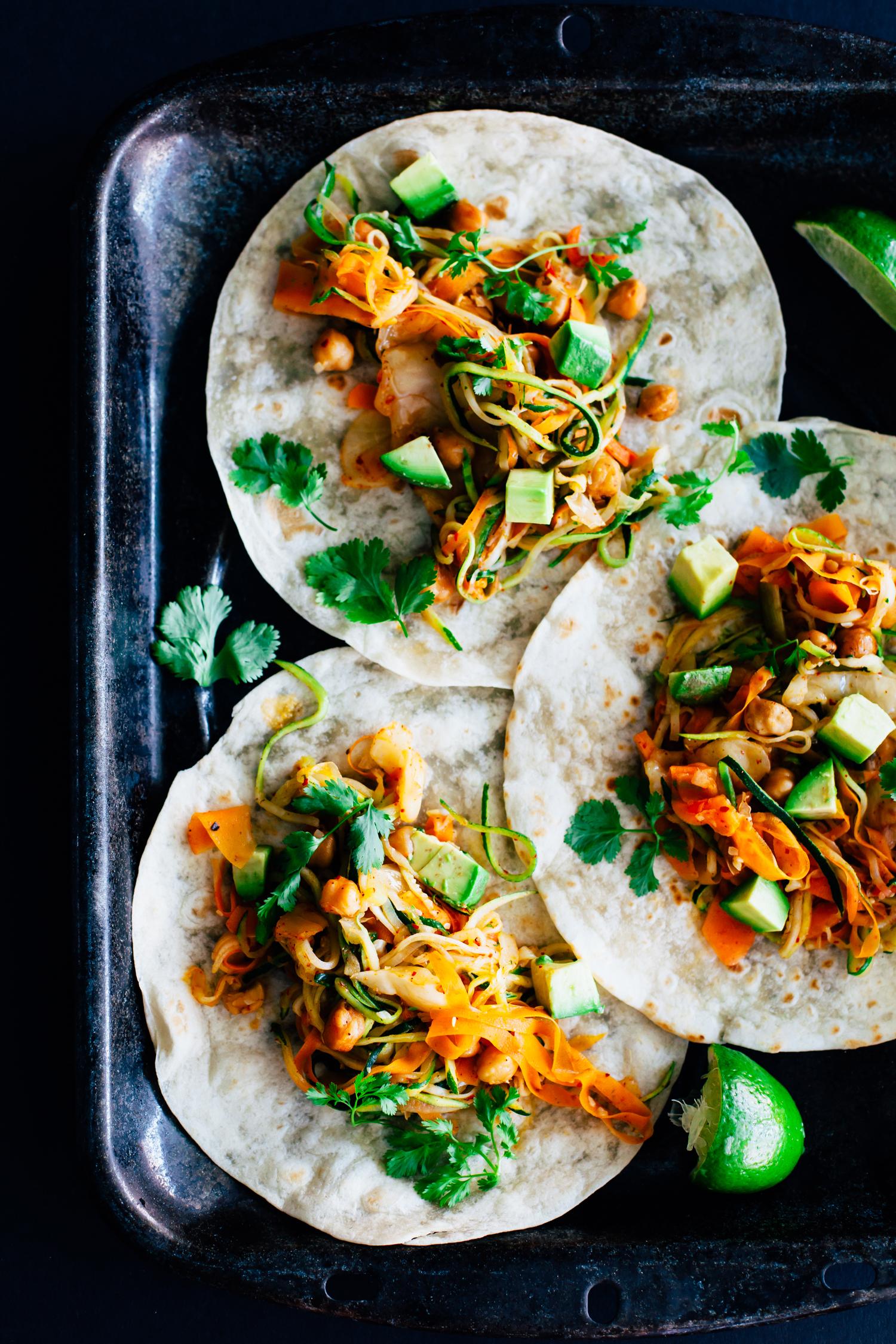 Zucchini Kimchi Tacos - Golubka Kitchen