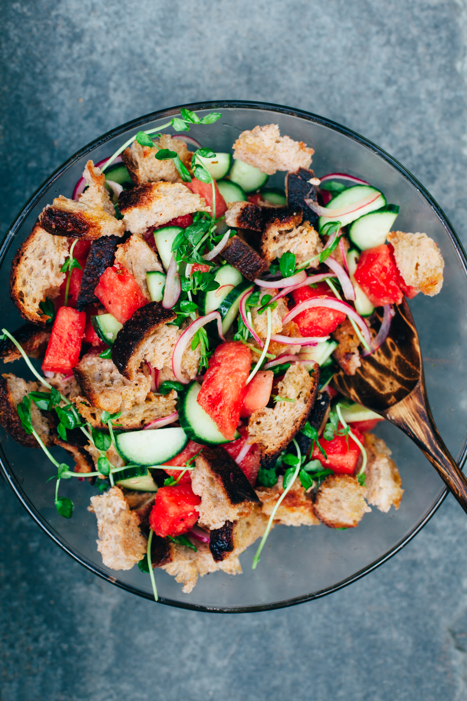 Watermelon Panzanella - Golubka Kitchen