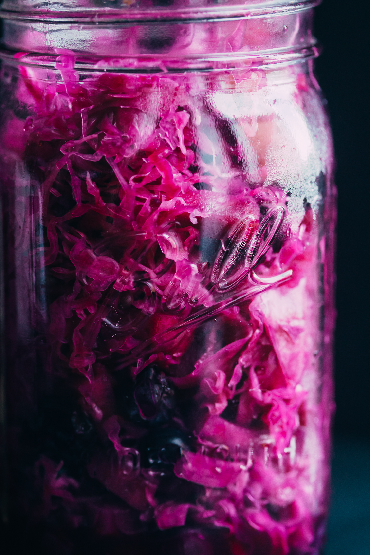Red Cabbage, Blueberry and Apple Sauerkraut - Golubka Kitchen