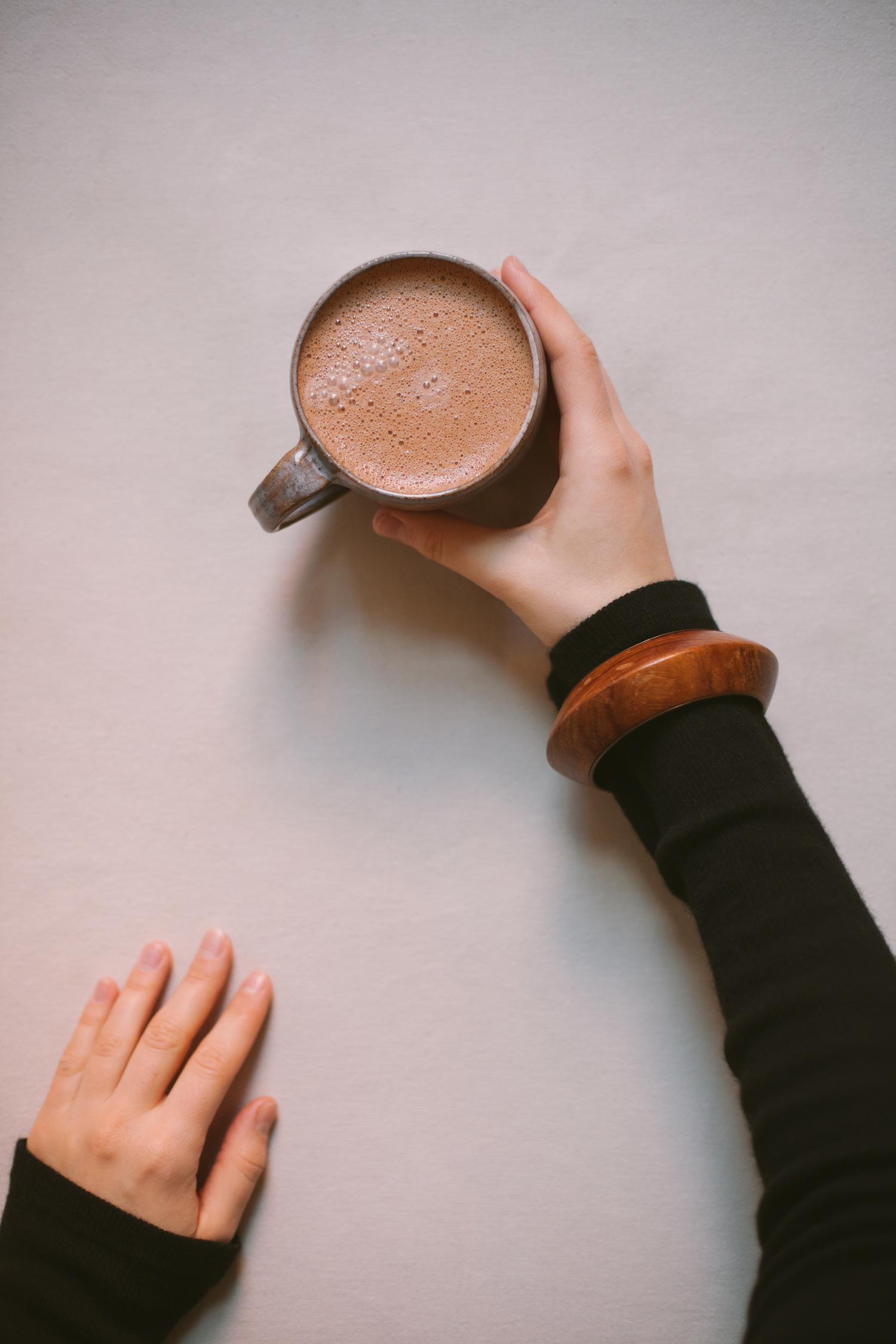 Tahini Hot Chocolate - Golubka Kitchen