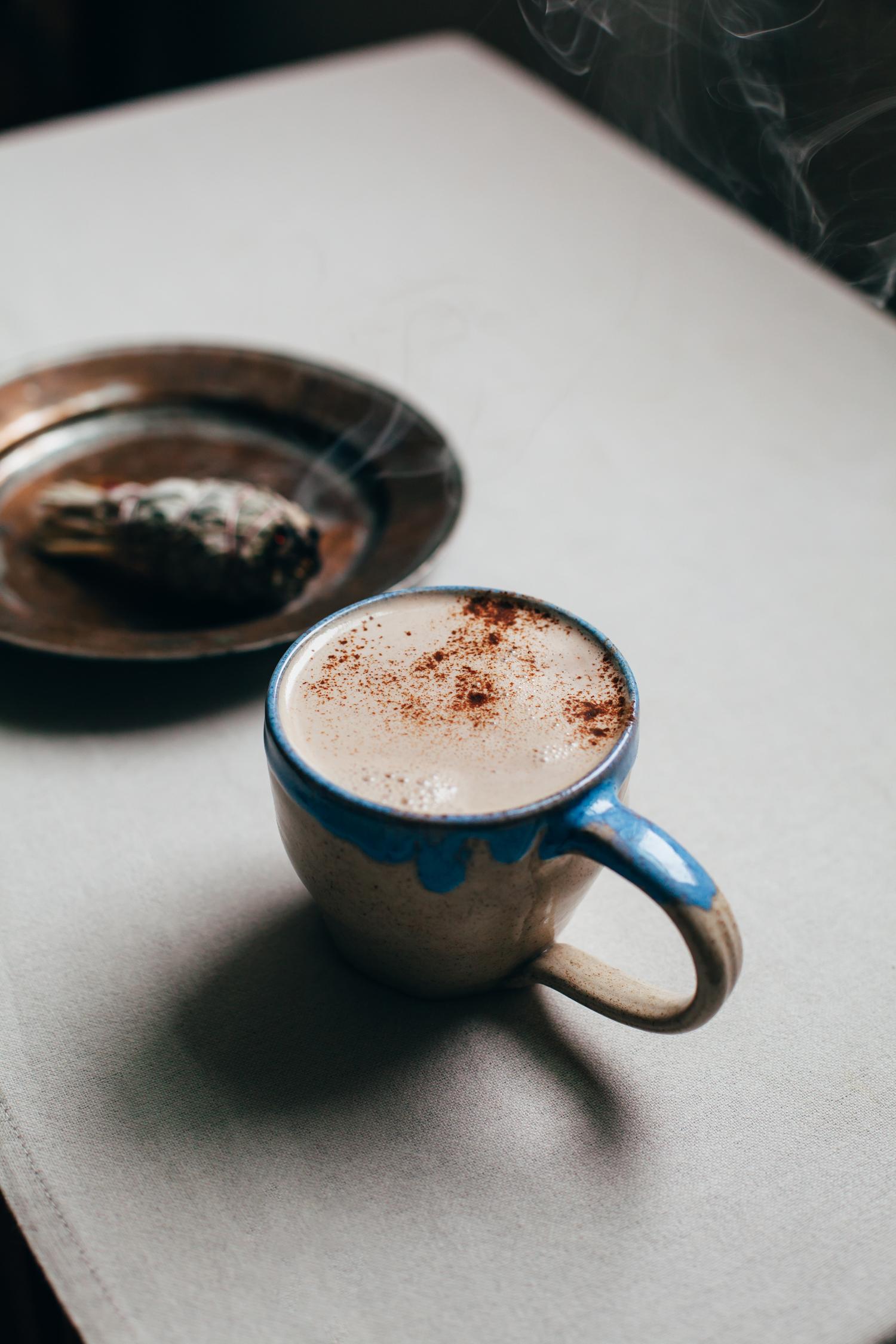 No-Recipe Cozy Vegan Latte - Golubka Kitchen