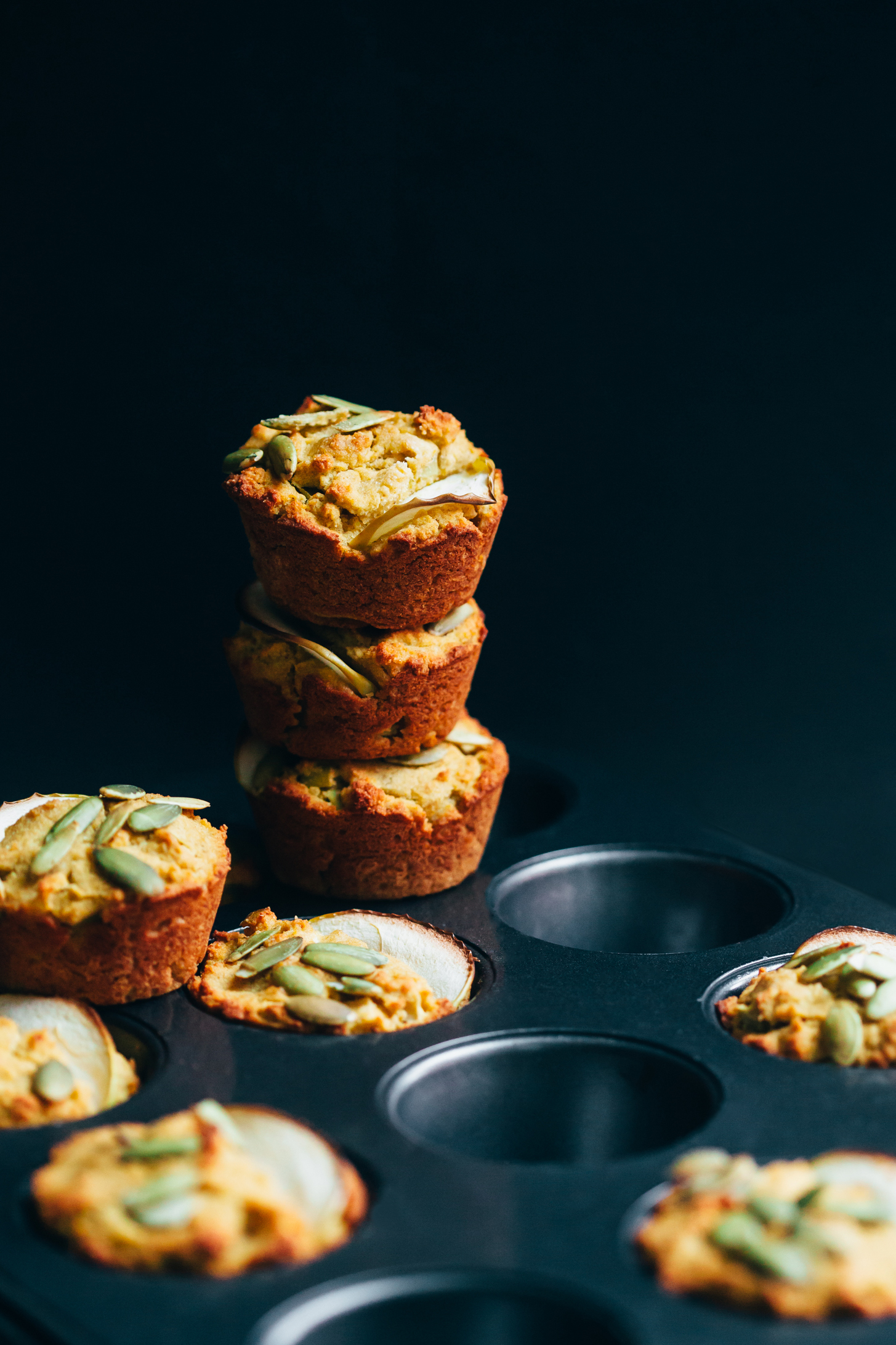 Date-Sweetened Apple and Squash Muffins (Plant-Based Fall Meal Plan) - Golubka Kitchen