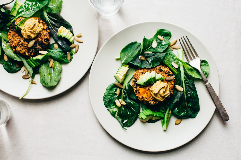 Brown Rice, Lentil, Kale and Squash Veggie Burgers (Plant-Based Fall Meal Plan, Part 2) - Golubka Kitchen