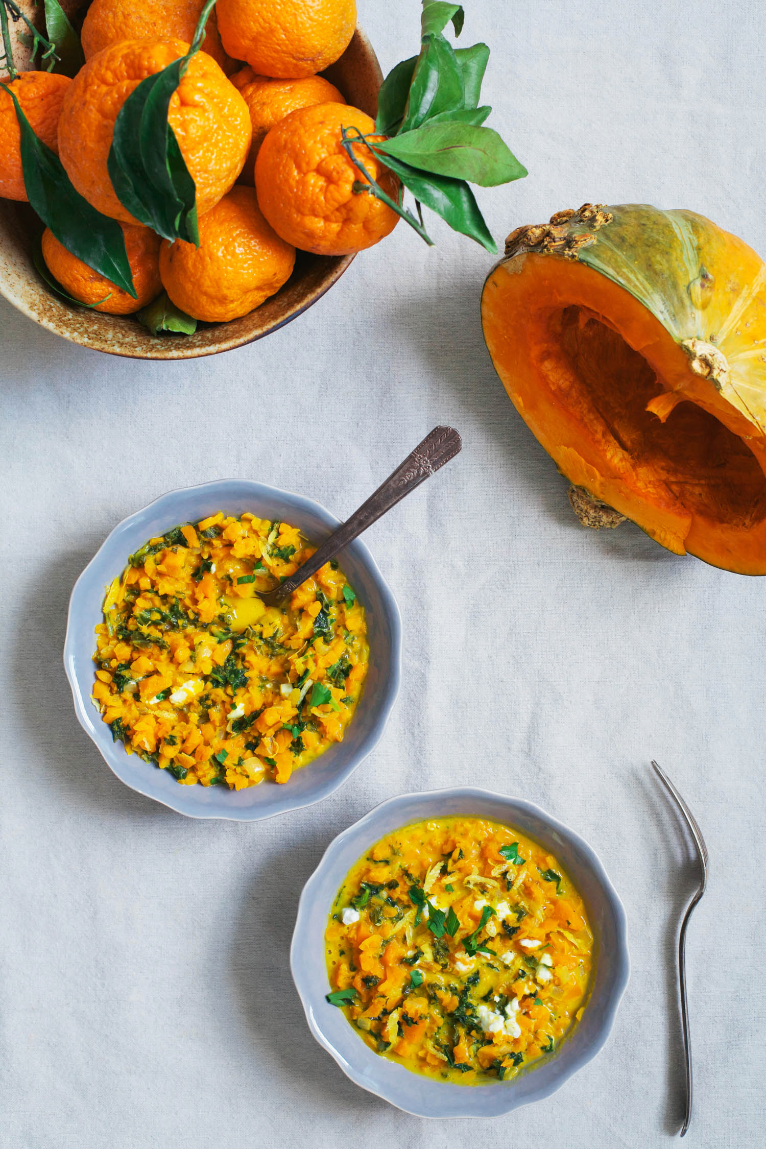 Curried Squash and Kale Riceless Risotto - Golubka Kitchen