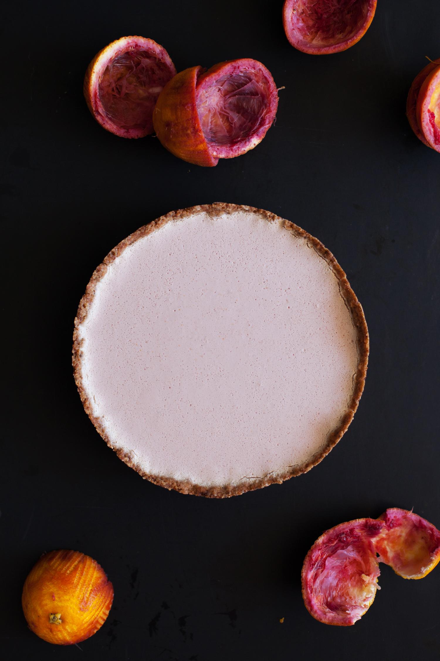 White Chocolate Blood Orange Mousse Tart - Golubka Kitchen