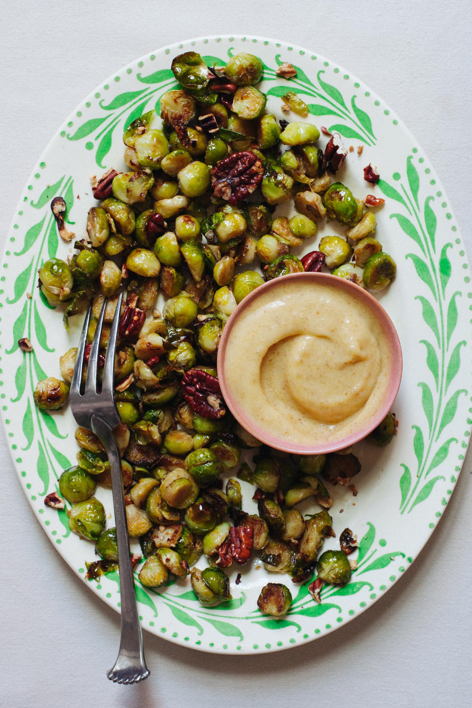 Miso-Date Ghee Brussels Sprouts - Golubka Kitchen