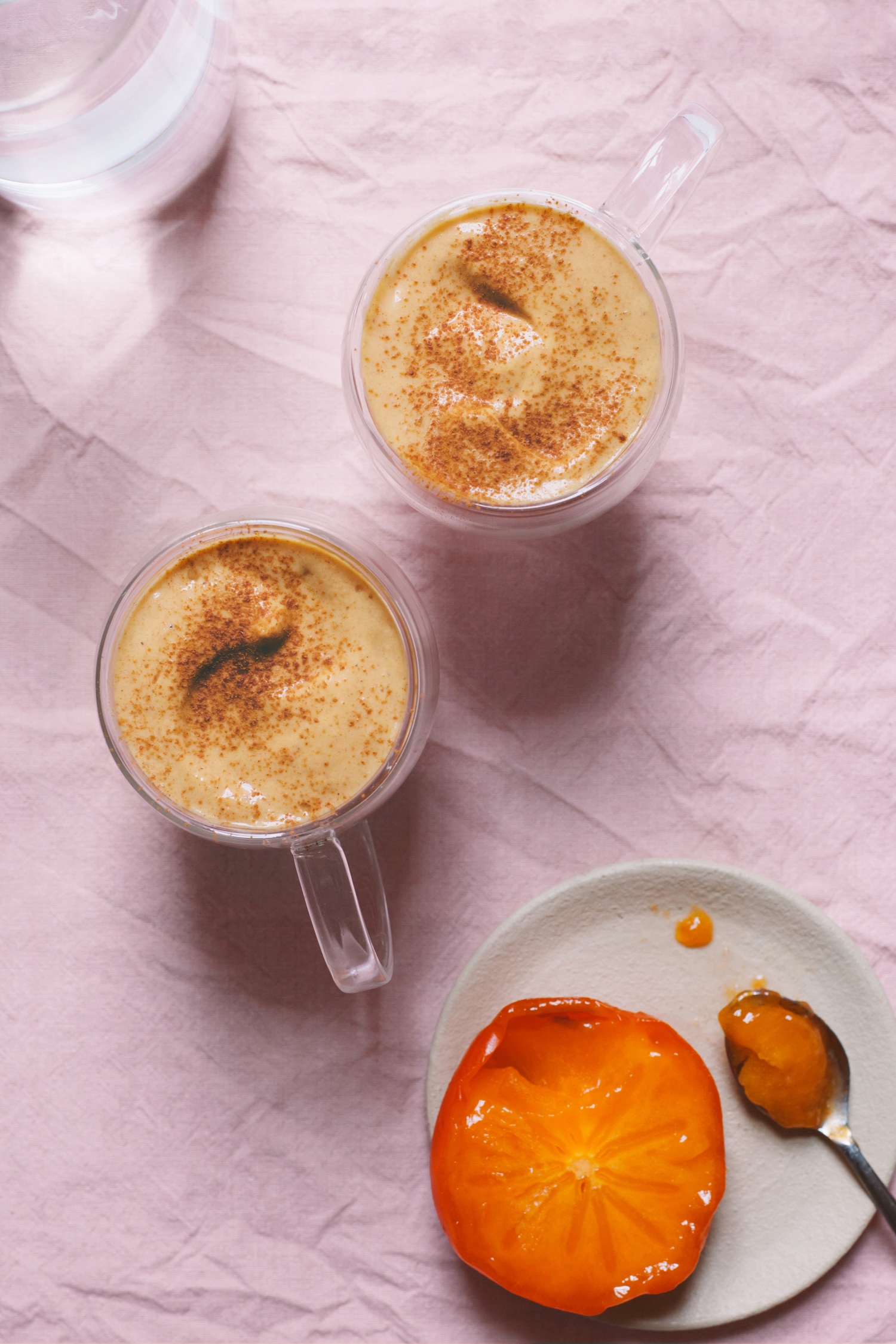 Quick Persimmon Eggnog - Golubka Kitchen