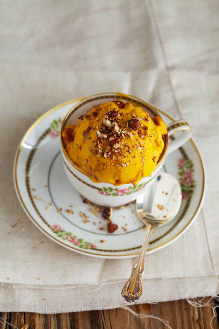 Kabocha Squash Ice Cream with Maple-Roasted Pecans - Golubka Kitchen