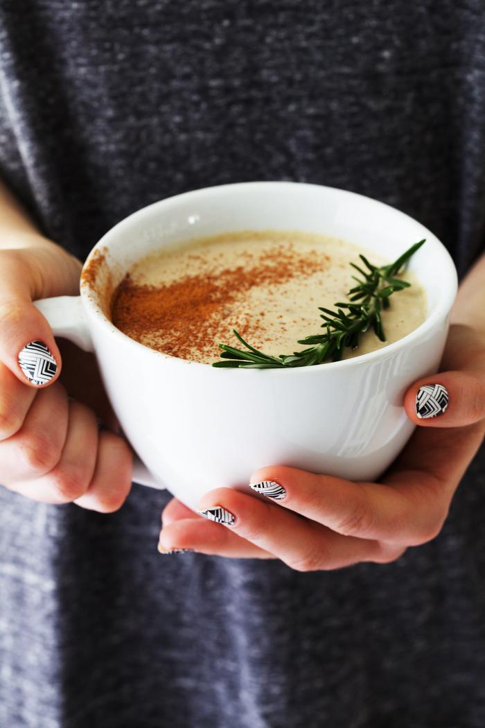 Rosemary Hot White Chocolate - Golubka Kitchen