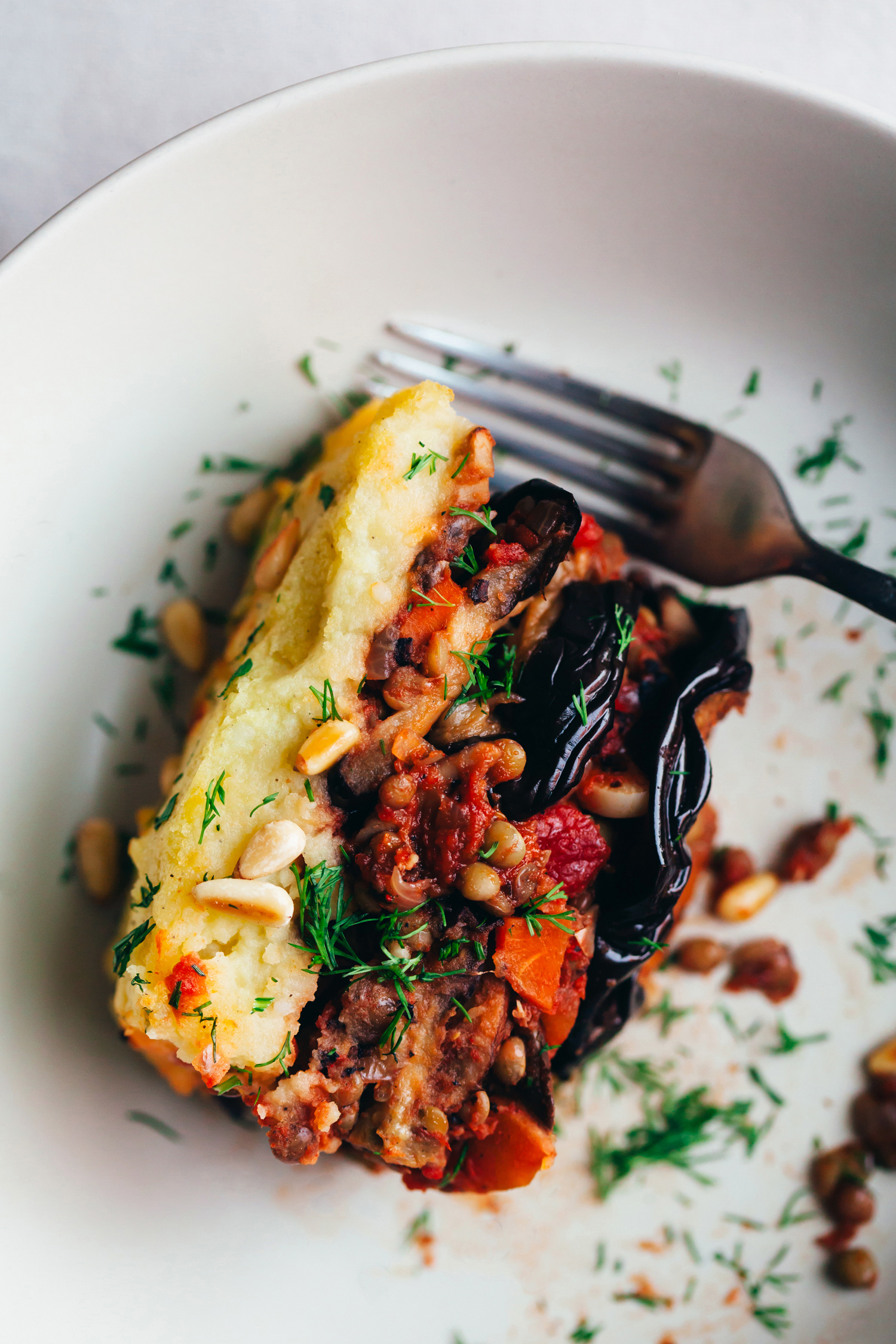 Vegan Lentil Moussaka - Golubka Kitchen