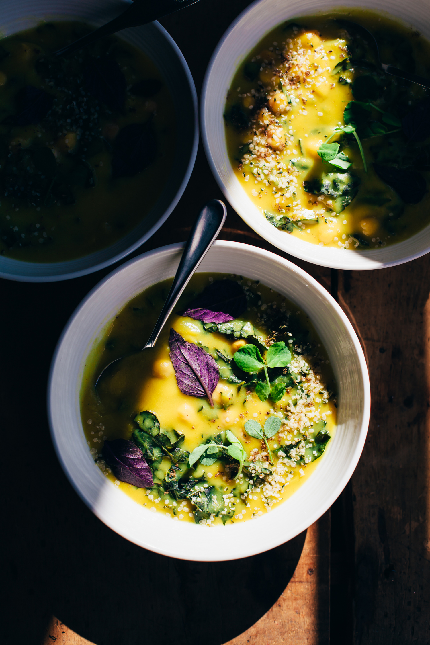 Bright & Grounding Chickpea, Parsnip and Kale Soup - Golubka Kitchen