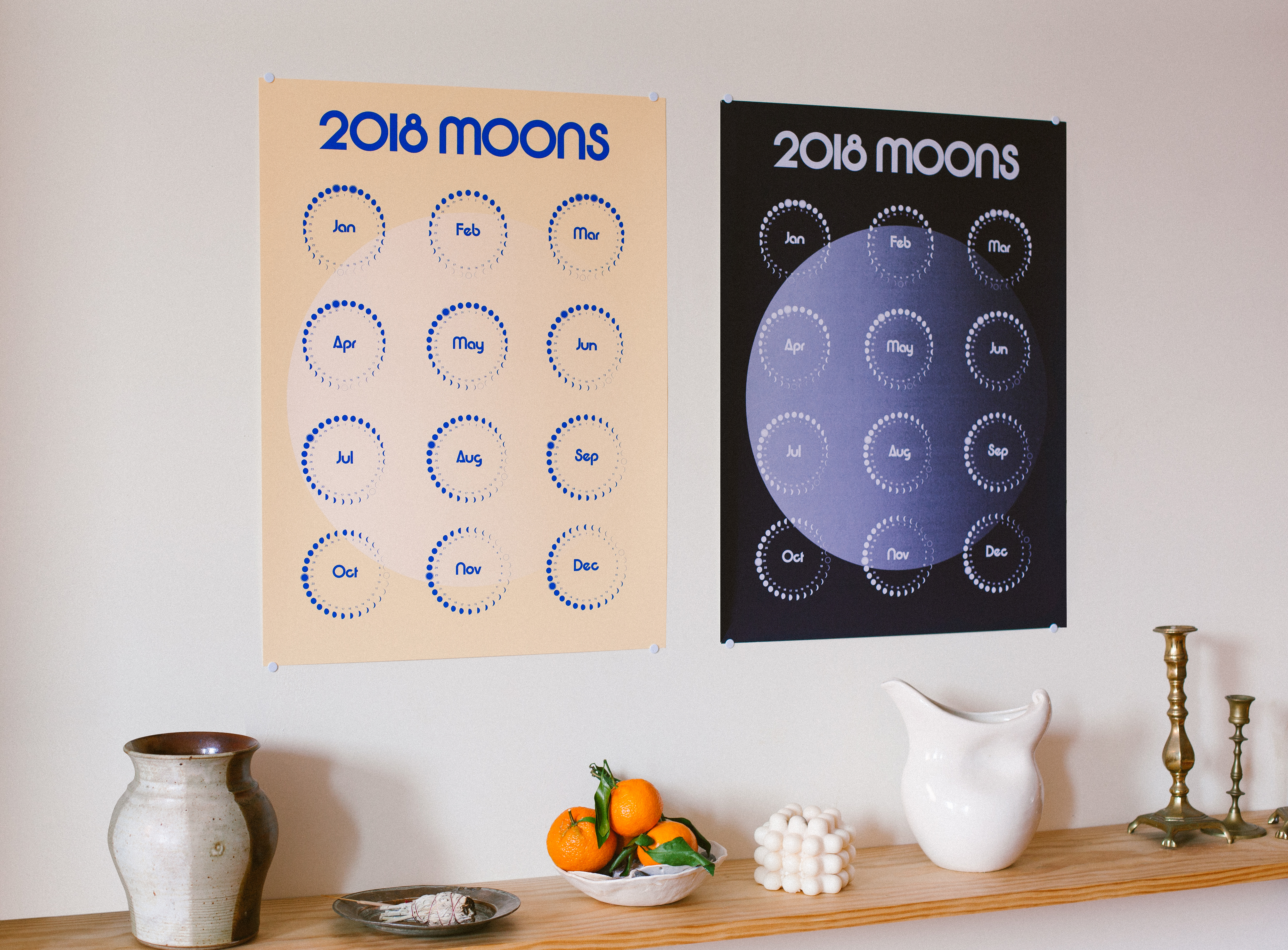 Moon Phase calendar giveaway from m00ns.com - Golubka Kitchen