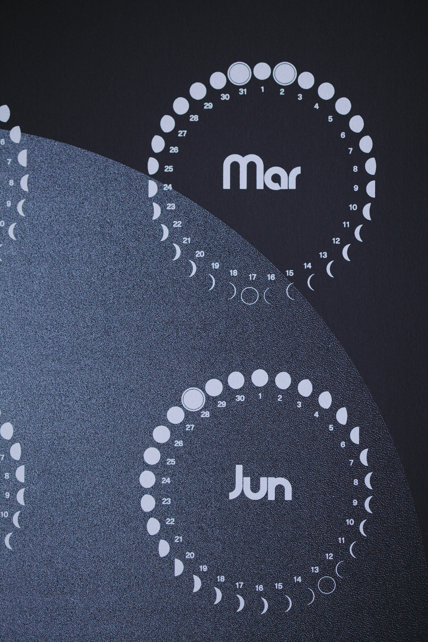 Moon Phases Calendar.Moon Milk