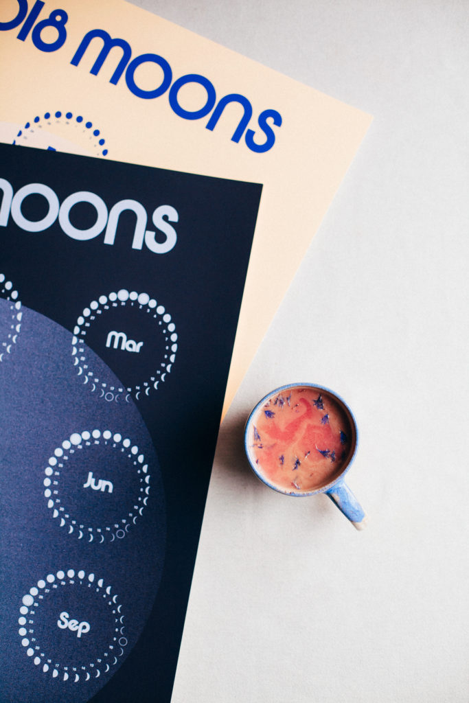 Moon Milk & 2018 Moon Phase Calendar Giveaway