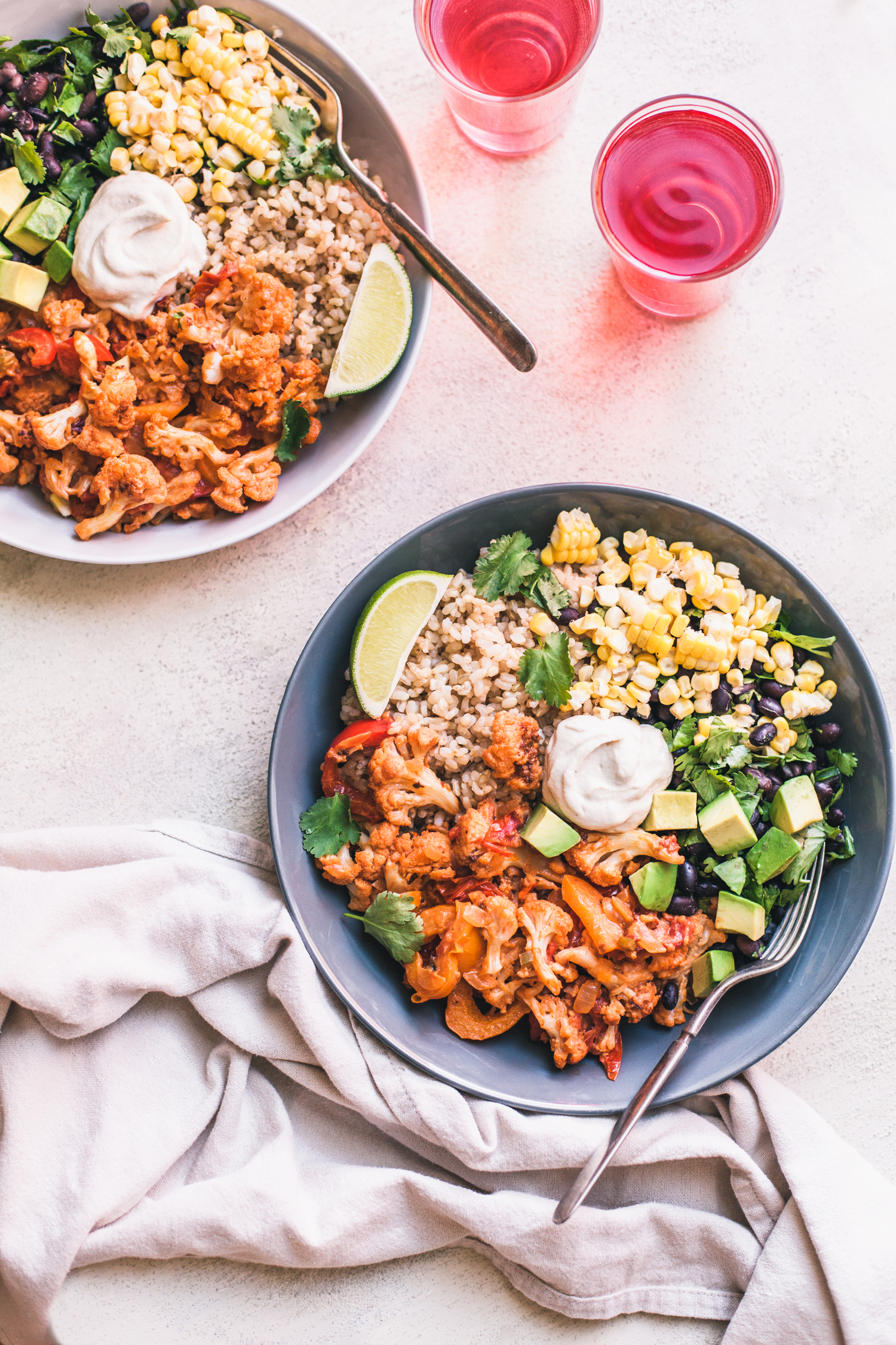 Chipotle Cauliflower Burrito Bowl - Golubka Kitchen
