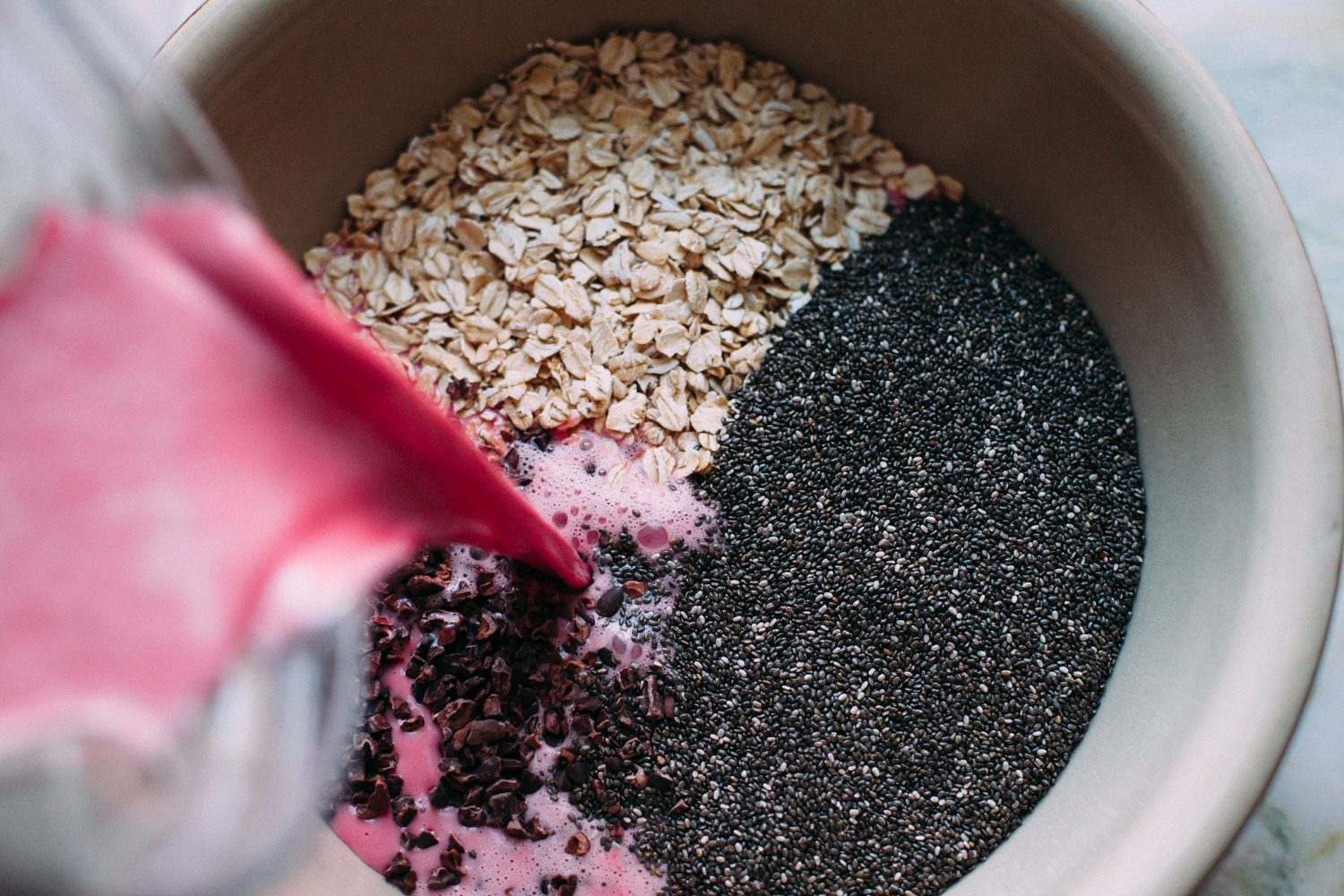 Coconut Beet Overnight Oats - Golubka Kitchen