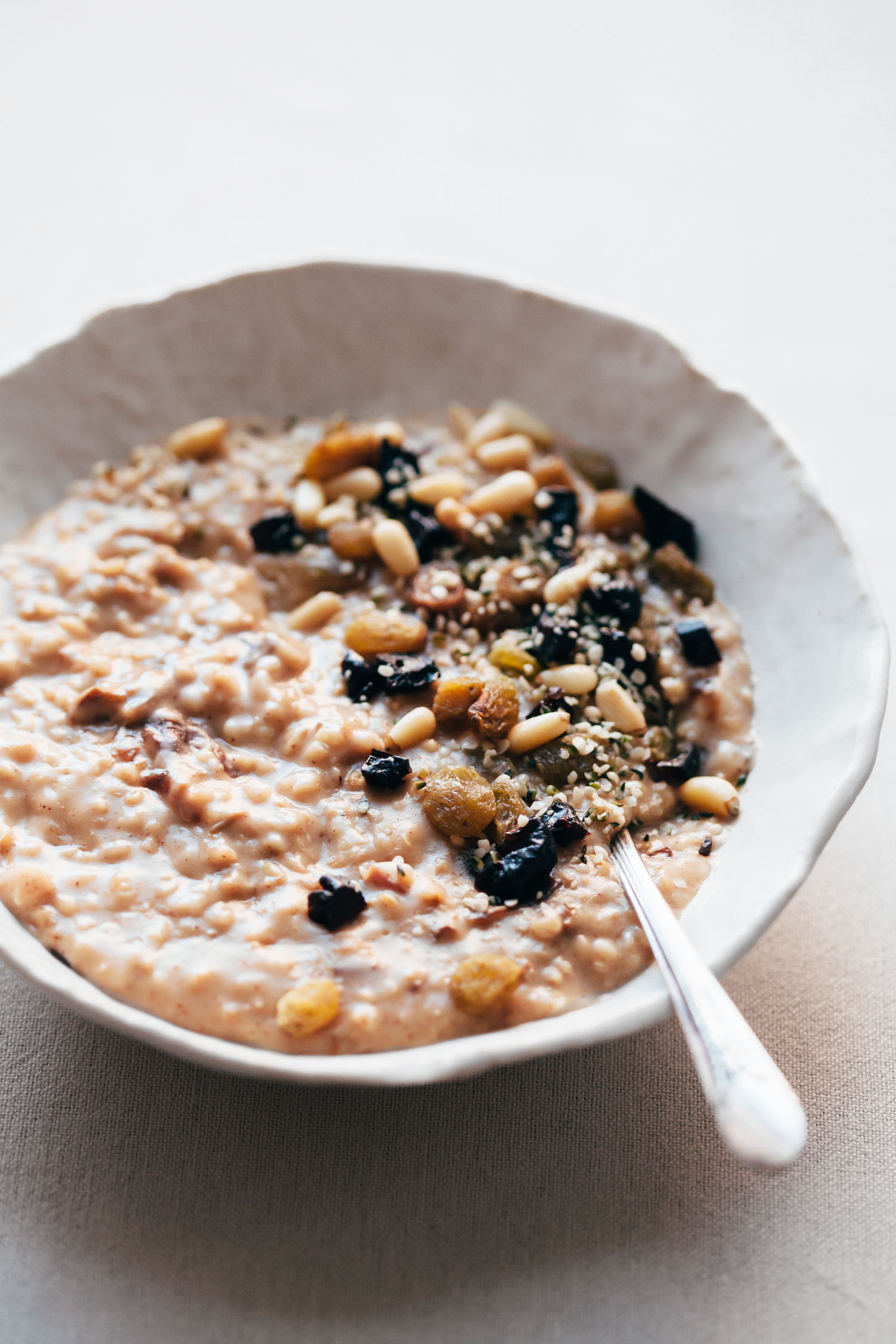 Super Creamy Steel Cut Oats with Dried Fruits - Golubka Kitchen