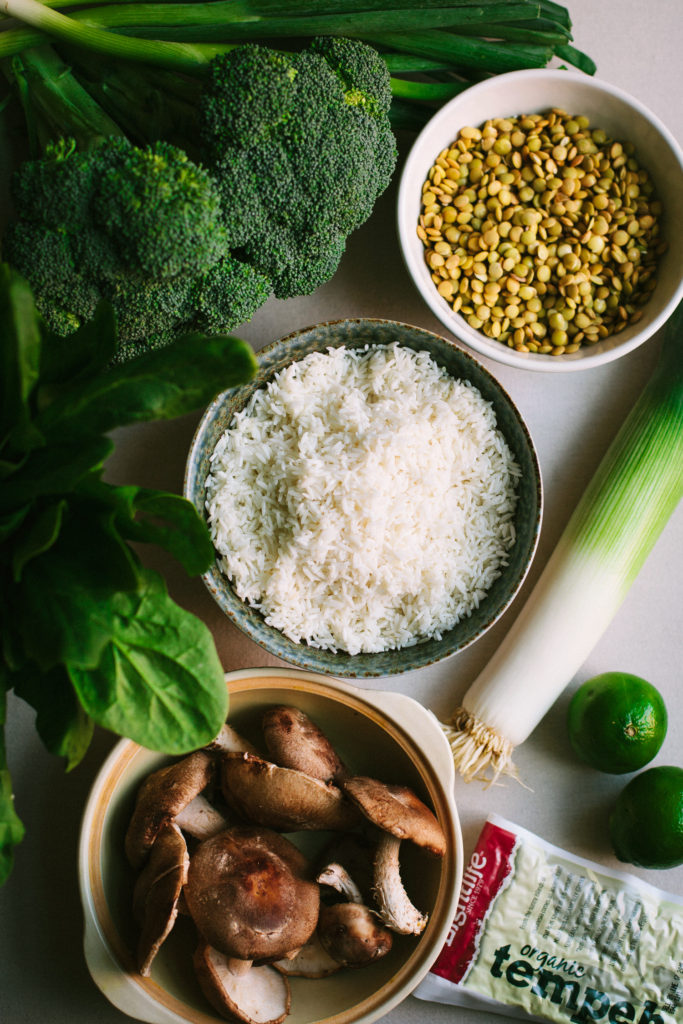 Plant-Based Meal Plan Mini: Rice (Congee, Fried Rice, Veggie Burgers)