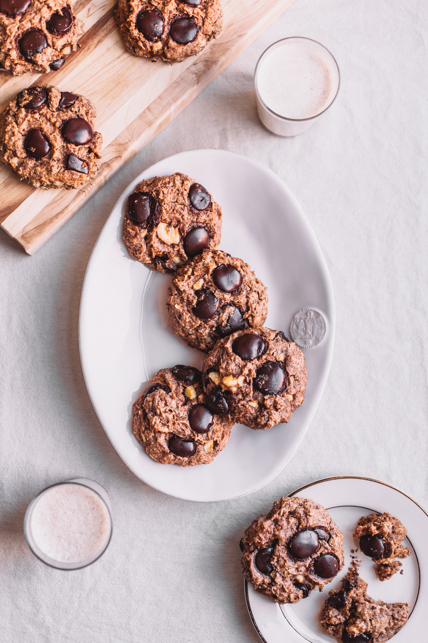 Chunky Monkey Cookies, Vegan and Gluten-Free - Golubka Kitchen