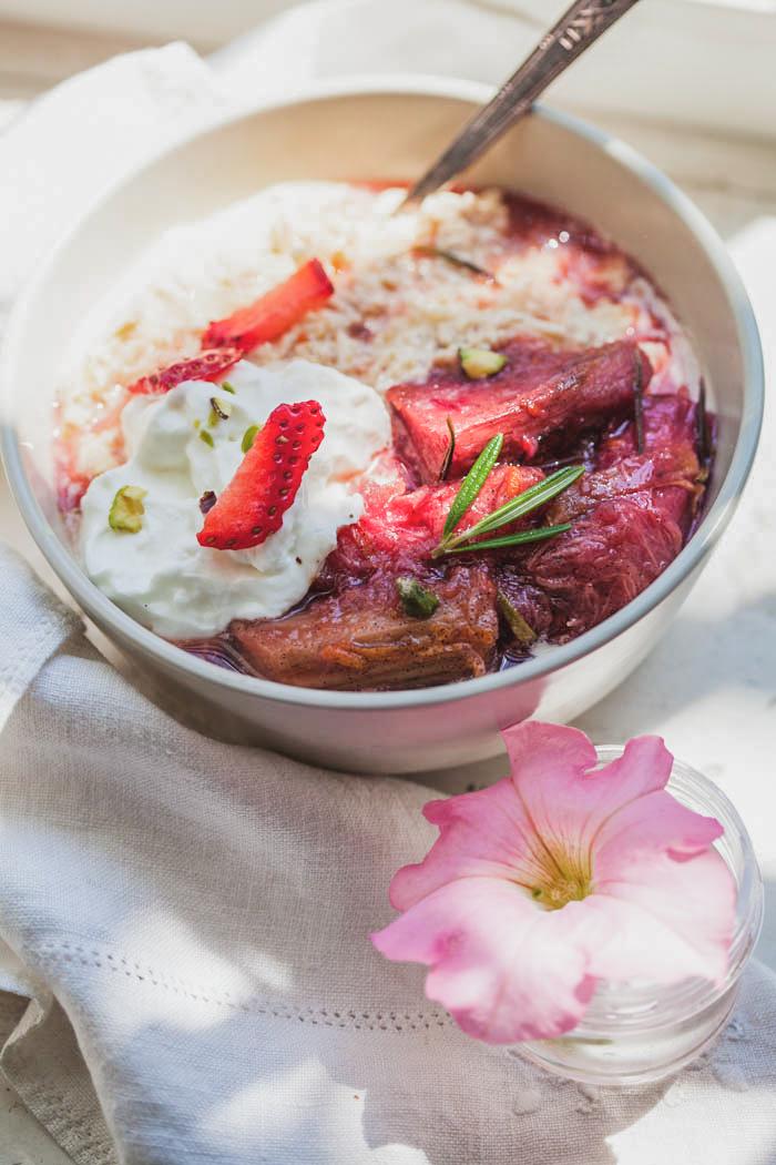 Rhubarb Rosemary Musli - Golubka Kitchen