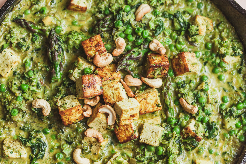 Tofu Saag Paneer, Spring Style - Golubka Kitchen