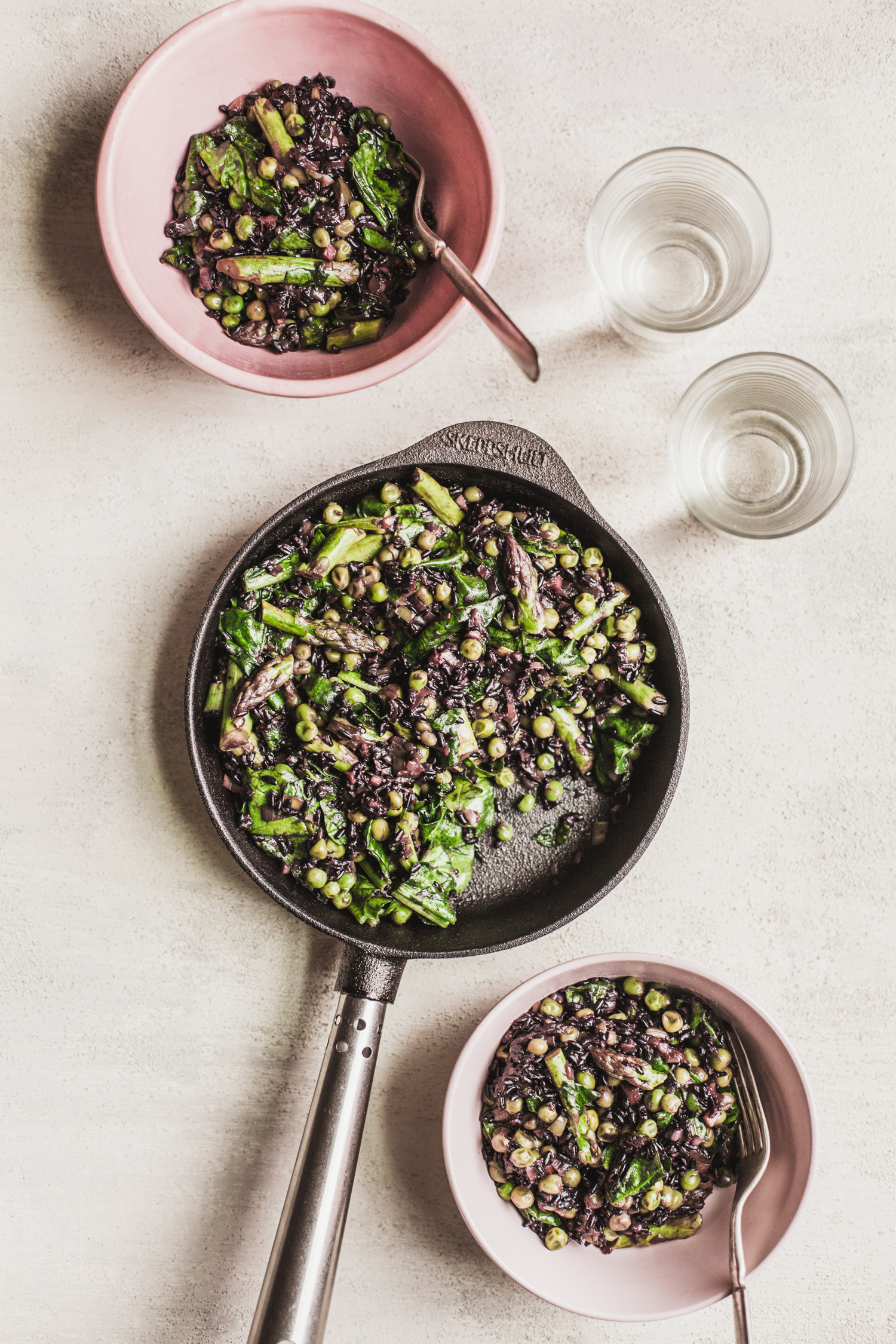 Spring Vegetable Black Rice Pilaf - Simply Vibrant Book Club + Giveaway