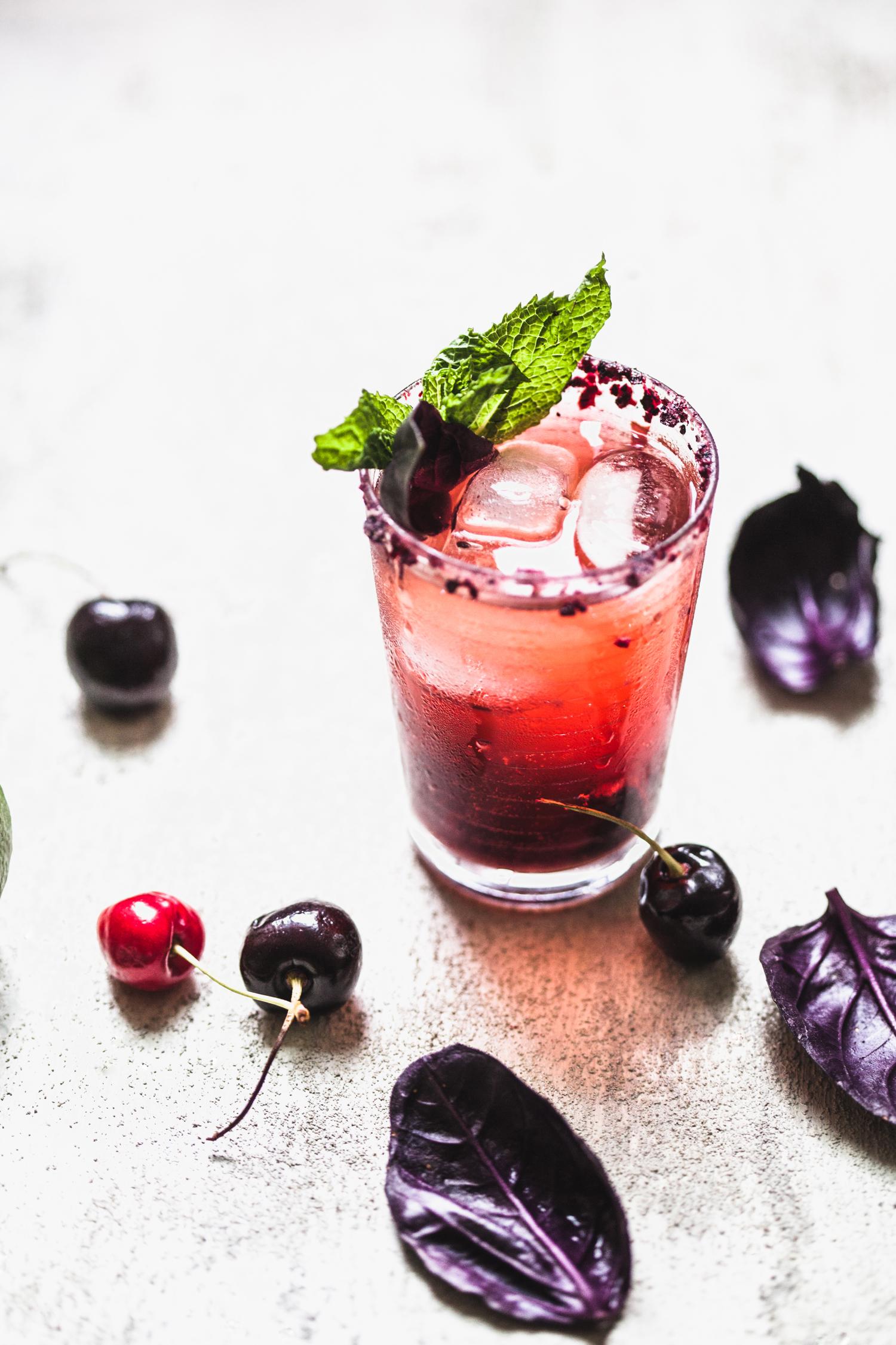 Cherry Syrup and Cherry Kombucha Mocktail - Golubka Kitchen