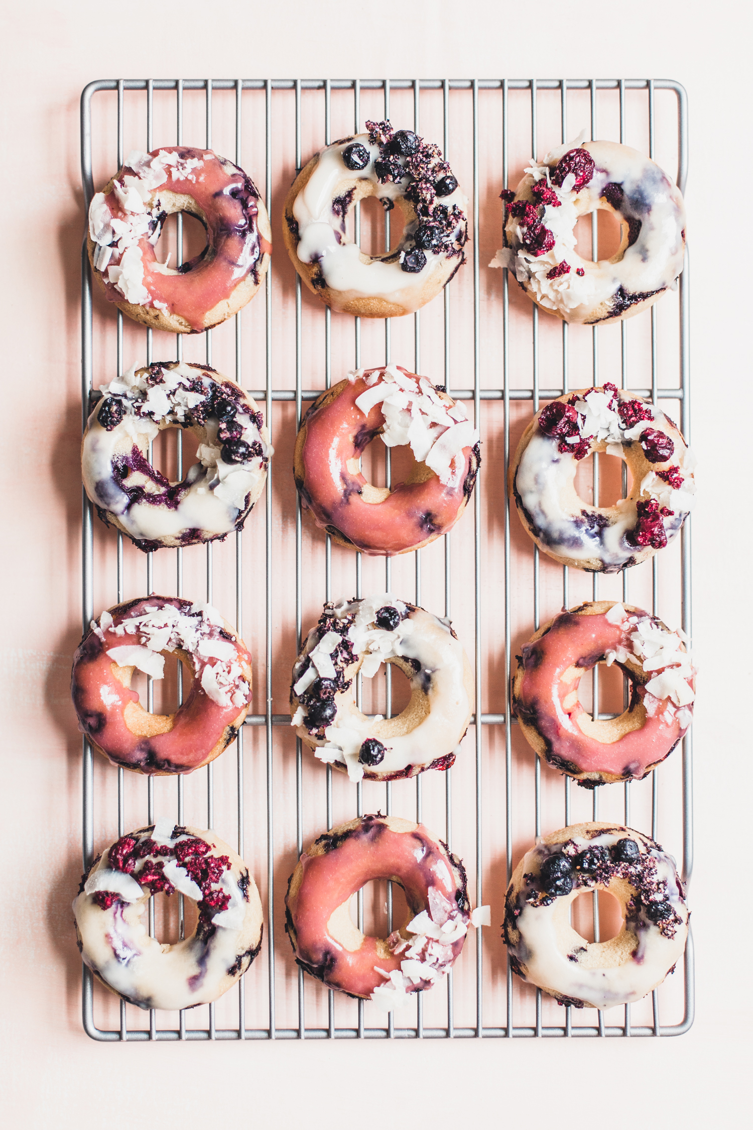 Gluten-Free Lemon Blueberry Donuts with a Coconut Glaze - Golubka Kitchen